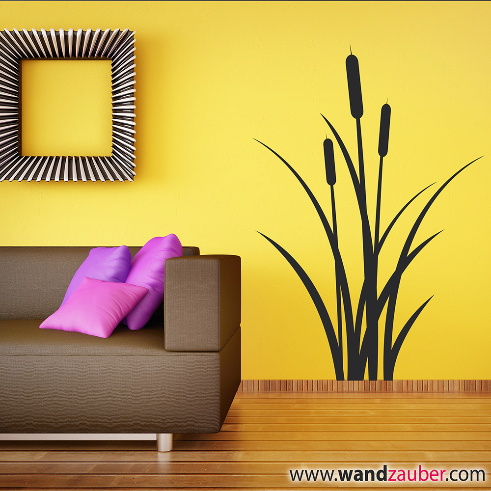 schilf wandzauber wandtattoos. Black Bedroom Furniture Sets. Home Design Ideas