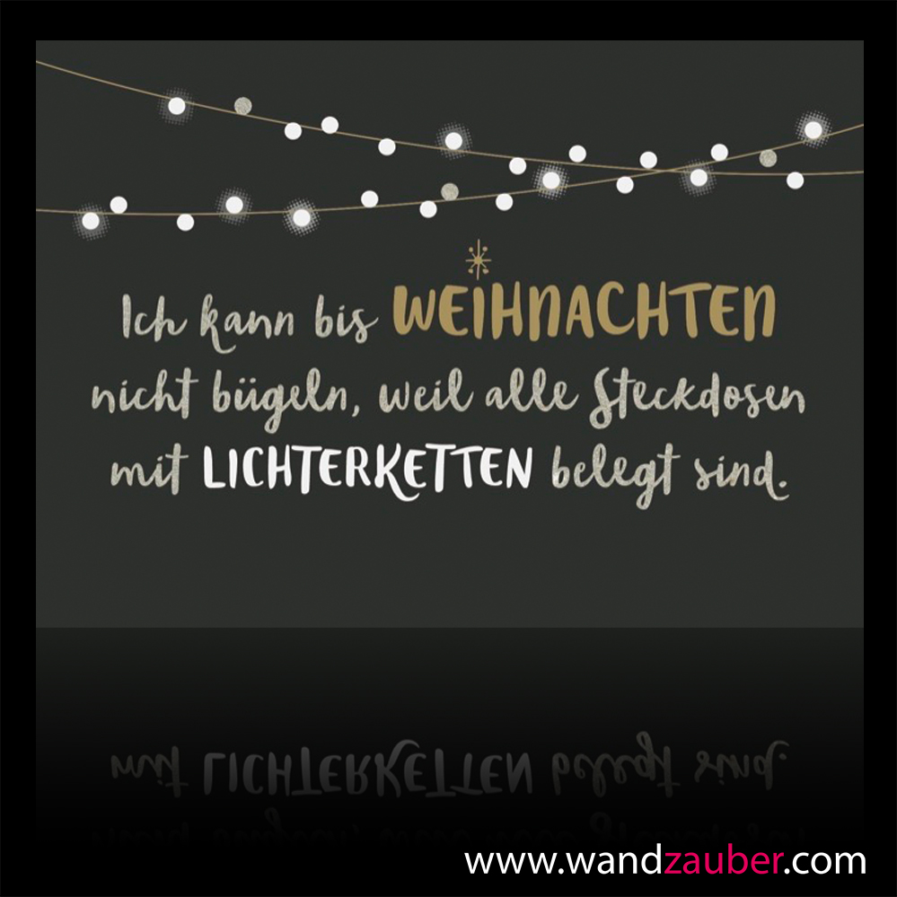 grusskarte lichterkette weihnachten wandzauber wandtattoos. Black Bedroom Furniture Sets. Home Design Ideas