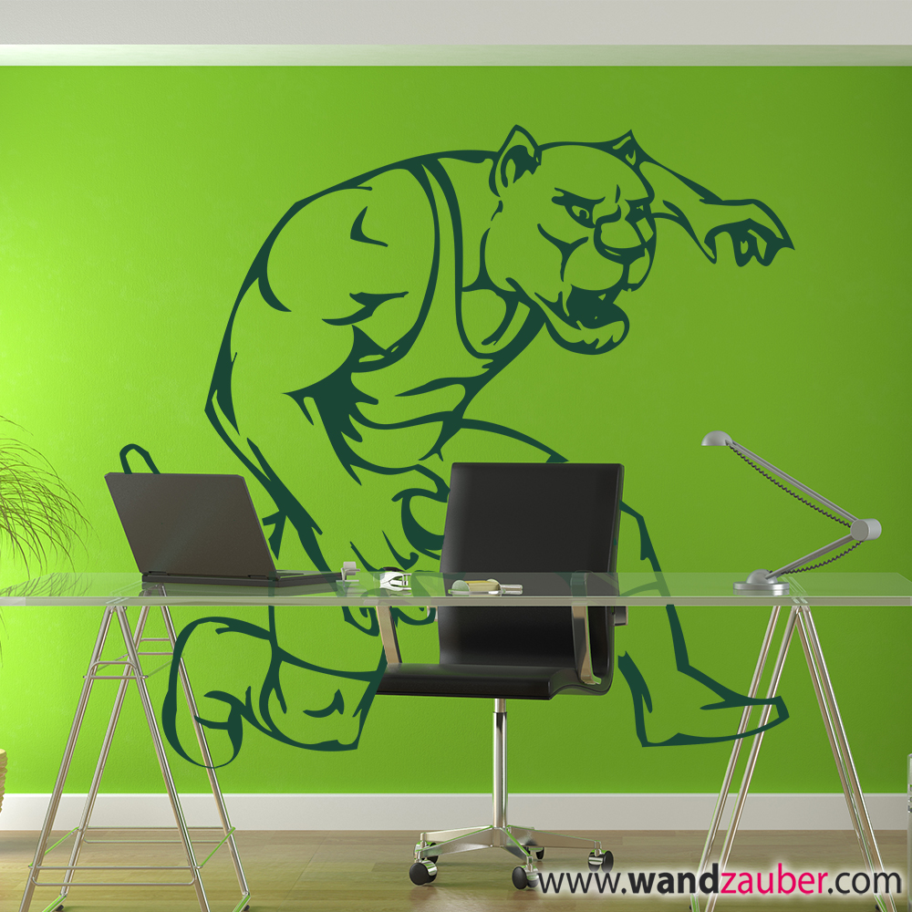 wandtattoo comic cat wandzauber wandtattoos. Black Bedroom Furniture Sets. Home Design Ideas